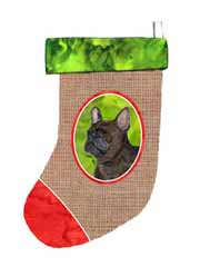 "Caroline's Treasures SS2031-CS French Bulldog Christmas Stocking, 11 x 18"", Multicolor"
