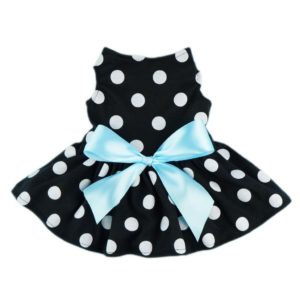Fitwarm Cute Polka Dot Ribbon Dog Dress